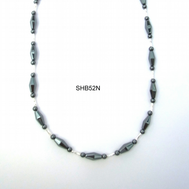 "Haematite necklace 18"" or 30"""