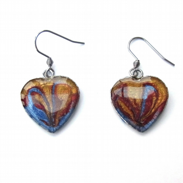 Enamelled earrings - all unique