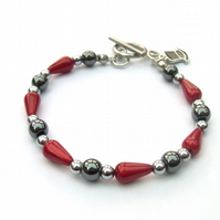 Haematite and miracle bead bracelet
