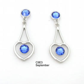 Birthstone crystal Earrings