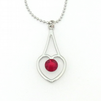 Crystal Heart Pendant and chain with Swarovski Crystals