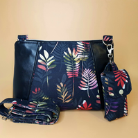 Black Leaf Crossover Bag