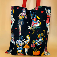 Tattoo Tote Bag - Pin Up