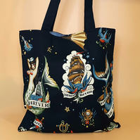 Tattoo Tote Bag - Mermaid