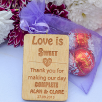 Wooden Wedding Favours - Treat Tags - Made to Order - Wedding Decoration