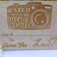 Share the Love Wooden Wedding Sign - Personalised - Rustic Wedding Decoration