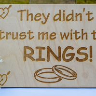 Ring Plaque for Page Boy or Best Man - Wedding Decoration