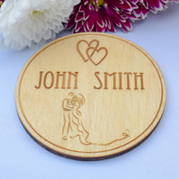 Wooden Wedding Place Name Settings - Engraved to Order - Wedding Table Decor