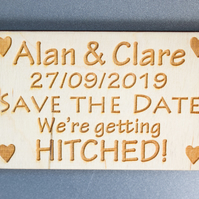 Save The Date Fridge Magnets - Made to Order and Engraved - Wedding Ideas