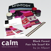 Black Forest Scarf Kit in CALM by McIntosh