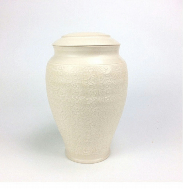 White Dream-funeral urn for ashes, unique handmade ceramic cremation art urns!