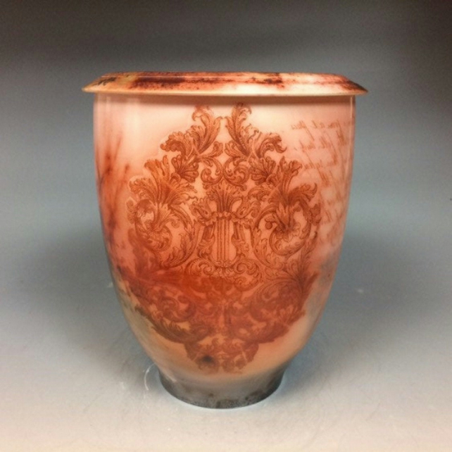 Thankful-funeral urn for ashes, unique handmade ceramic cremation art urns!
