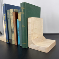 Maple Wood Bookends, Chunky Wooden Bookends, Wooden Book Ends,