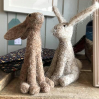 Needle Felted Hare Making Craft Kit