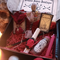 Voodoo Gift Box with Voodoo Doll and Love Spells - Curiosities, Magic