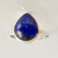 Lapis Lazuli Ring Handmade in Sterling Silver