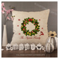 Luxury Personalised Cushion - Inner Pad Included - Christmas Wreath