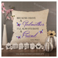 Luxury Personalised Cushion - Inner Pad Included - Godmother Friend