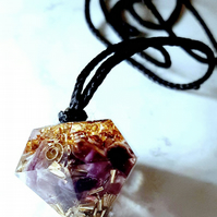 Orgonite Pendant for Crown chakra healing