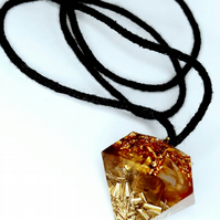 Orgonite Pendant for sacral Chakra healing