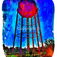 American Icon american icon water tower usa watertower america - Print Run of 10