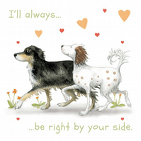 Valentine's, Anniversary Card, One I Love, Dog, Springer Spaniel, Border Collie,