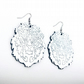 Silver Lion Head Door Knocker Earrings