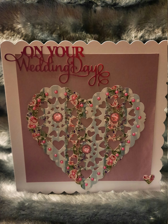 Floral, pretty  'On Your Wedding Day' Card