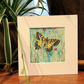 Swallowtail Butterfly Watercolour Painting.Butterfly & Flower Botanical Fine Art