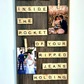 Large Scrabble Tile Art Custom Phrase Text Poem Custom Frame Your Photos Printed