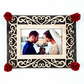 Heart Photo Frame Wooden Red Roses Photography Print Couple Wedding Anniversary