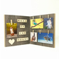 Boss of the House Wood Photo Frame - Funny Pet Photo Holder, Scrabble Picture