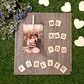 Me You Forever Scrabble Tile Frame Personalised Printed Photo Minimalist Wooden