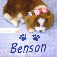 Dog or cat blanket personalised. Lovely and soft dimple blanket.