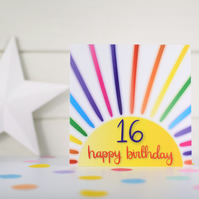 Happy birthday 16. 16th birthday card. Happy 16th Birthday. Kids birthday card.