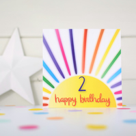 Happy birthday 2. 2nd birthday card. Happy 2nd Birthday. Kids birthday card.