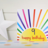 Happy birthday 9. 9th birthday card. Happy 9th Birthday. Kids birthday card.