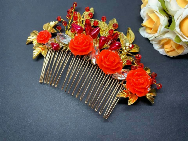Wedding Bridal Hair Comb, Bridal Hair Accessories, Crystal Hair Accessories F010