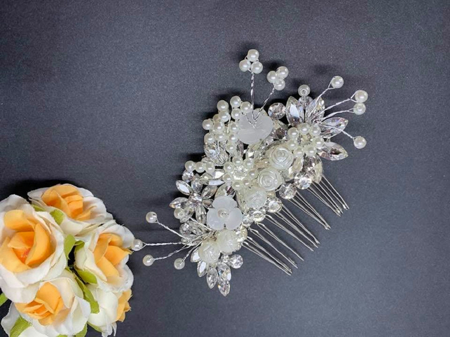 Bridal Hair Comb, Bridal Hair Accessories, Crystal Accessories F005
