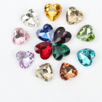 25 pcs x 8mm Point Back Crystal Star, Crystal Heart, Point Back Rhinestone C31
