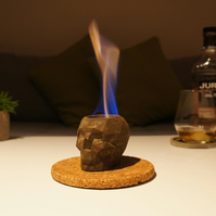 Skull Indoor fire pit, Concrete fireplace, Eco-fire, burning skull
