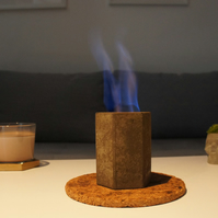 Indoor fire pit, Concrete fireplace, Eco-fire