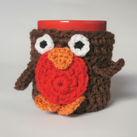 Red Robin mug hug cup cozy