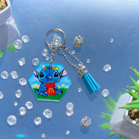 Cute Stitch KeychainZipper Charm
