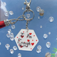 I Am Enough Self-Love KeychainCharm