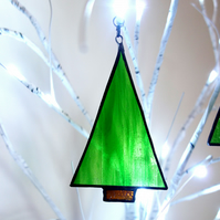 Stained Glass  Nordic Fir  Art Deco Style Suncatcher Decoration