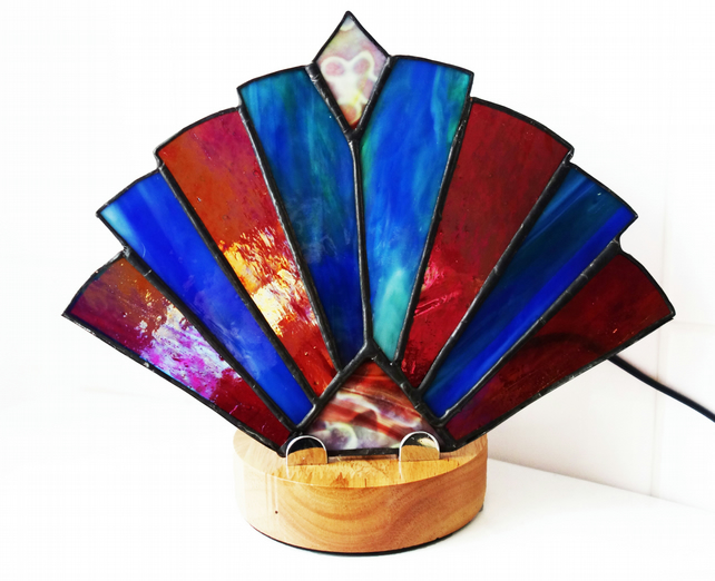 Stained Glass Art Deco Style Lamp