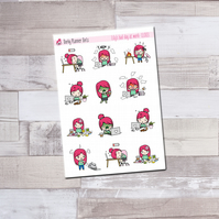 Lily's Bad Day at Work Planner Stickers - LL003