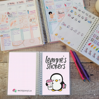 Personalised Penguin Reusable Sticker Book
