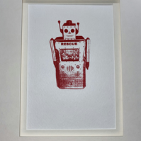 Red Robot signed wall art
